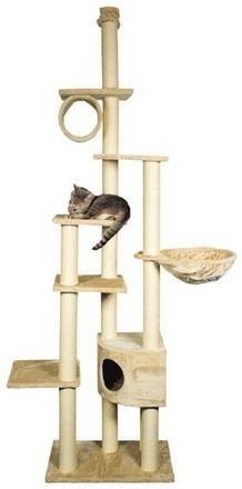 Bardzo duży drapak dla kotów z półkami i budką - beż