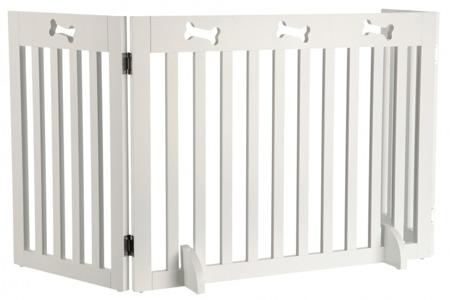 Drewniana barierka odgradzająca z 3 elementów - biała