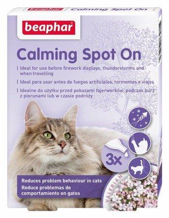 Krople spot-on uspokajające dla kotów - 3 sztuki
