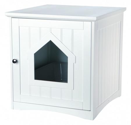 Domek na kuwetę dla kotów Trixie szafka biała