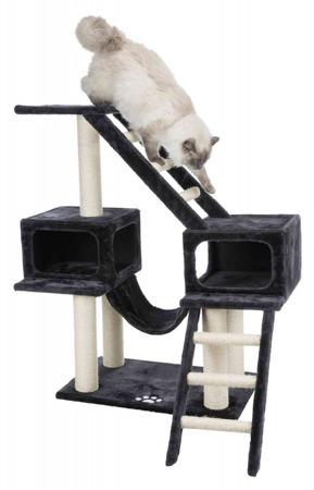 Drapak dla kota z drabinkami i budkami - antracyt