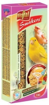 Kolby dla kanarków: miodowa, jajeczna, owocowa - 3 sztuki