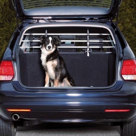 Krata aluminiowa do samochodu - srebrno-czarna - 96-163x34-48 cm