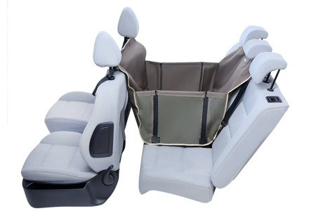Mata do samochodu dla psa z zabezpieczeniem drzwi na 2/3 tylnej kanapy Anti Slip Mini oliwkowa