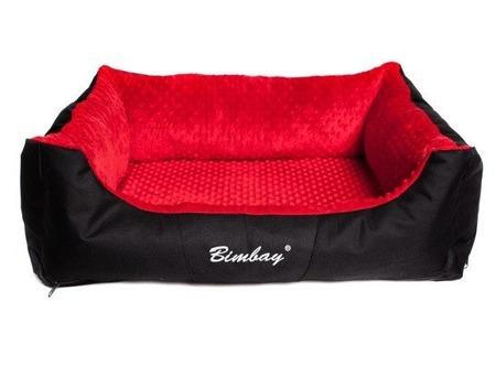 Pokrowiec do kanapy Bimbay Minky XL czarno czerwony