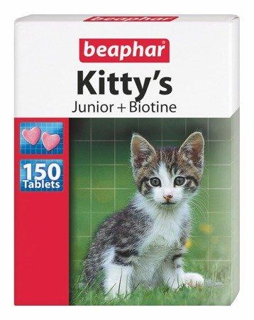 Przysmak multiwitaminowy dla kociąt Kitty's Junior + Biotine 150 sztuk