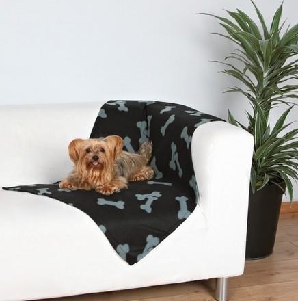 Trixie Koc 100x70cm Czarny w szare kostki