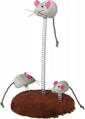 Podstawa z myszkami na sprężynach
