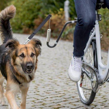 Zestaw rowerowy ze smyczą dla średnich i dużych psów